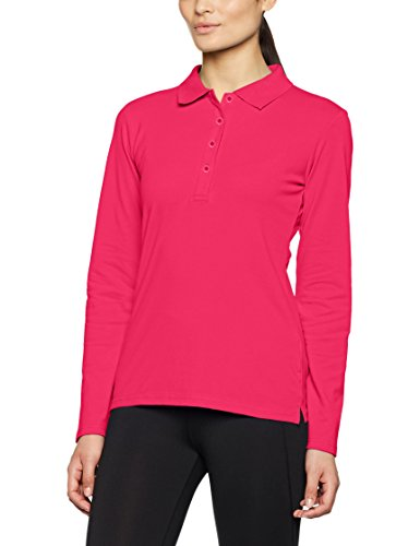 Sleeved Pink Elastic Donna James Pink Long Rosa Nicholson Polo amp; qIzzvBf76w