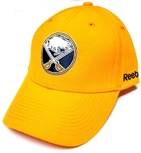 Reebok Buffalo Sabres NHL BL Wool Yellow Structured Hat Cap Adult Men