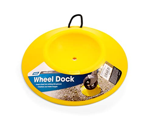 - Camco Heavy Duty Wheel Dock with Rope Handle - Helps Prevent Trailer Wheel from Sinking Into Dirt or Mud, Easy to Store and Transport (44632)