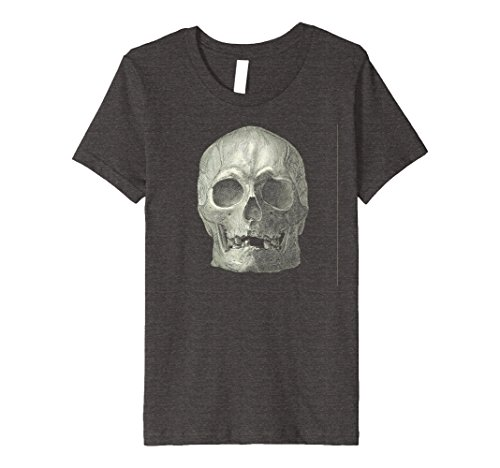 Quick And Easy Halloween Costumes For Guys (Kids Real Skull Easy Quick Costume Halloween Party Cool Shirt 12 Dark Heather)