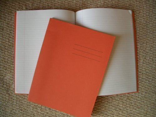 A4 School Orange Exercise Book Squared (5mm)