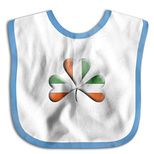 Irish Flag Tri Colors Themed Shamrock Infant Toddler Bibs Super Absorbent Cute Prints Baby Bib Funny Baby Shower - Gift