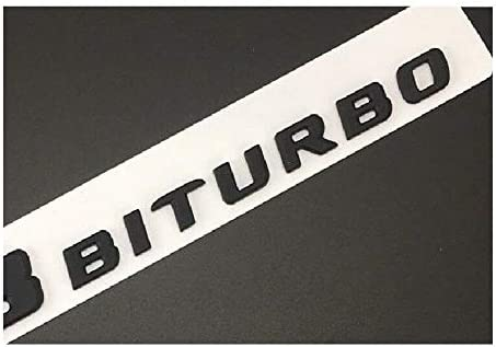miling Matt Black C43 Fit AMG BITURBO 4MATIC Trunk Fender Badges Emblems for AMG