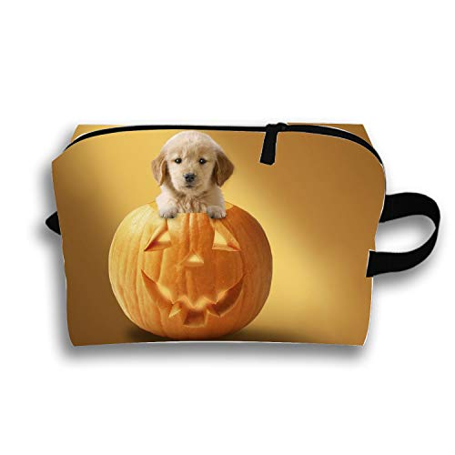 Cosmetic Bags Travel Portable Makeup Pouch Halloween Puppy Clutch Bag ()