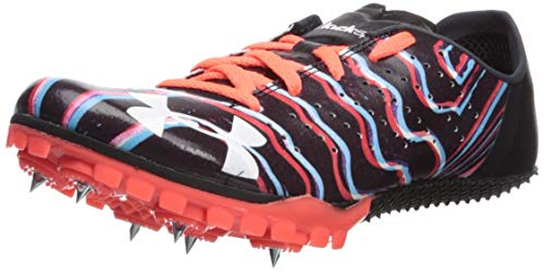 Under Armour Unisex Kick Sprint 2 Running Shoe Black (001)/After Burn 5.5 M US Big Kid