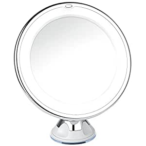 charmax 10x magnifying lighted makeup mirror with bag natural led light bathroom. Black Bedroom Furniture Sets. Home Design Ideas