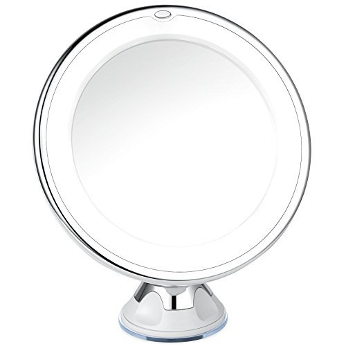 Led Light Wall Mounted Makeup Mirror: Makeup Mirror 10x Magnifying Lighted Wall Mount LED Light