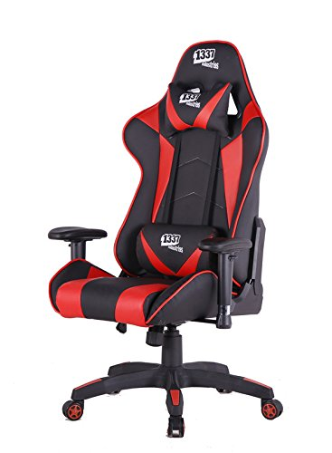 1337 industries Silla gaming gc790 negro y rojo