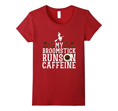 My Broomstick Runs on Caffeine Funny Halloween T-Shirt