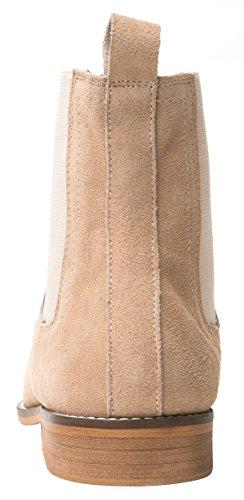 Santimon Chelsea Boots Uomo Camoscio Casual Dress Stivali Stivaletti Scarpe Formali Nero Marrone Grigio Marrone