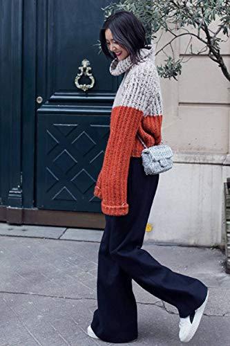 Oppp Maglione Casual Collo Alto Donna Spesso M Le Donne Xl Autunno Pullover E Inverno Dolcevita Cappotto EqErFHSnw