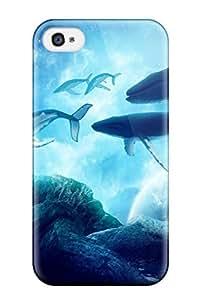 Best-Diy case cover Whales Dream biNRyXpahKK Iphone 4/4s protective case cover