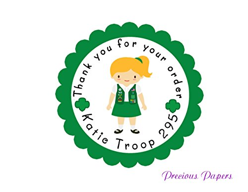 scout stickers Personalized, Printed and shipped set of 20