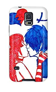 New Love Blue And Red Tpu Skin Case Compatible With Galaxy S5