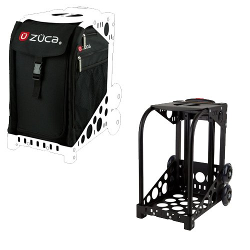 Zuca Sport Wheeled Luggage Complete Set with Frame and Insert Bag. Color: Obsidian (black) bag, with Black Frame. Bonus! Includes Travel Groove Universal Ipod & MP3 Accessory Kit by Zuca