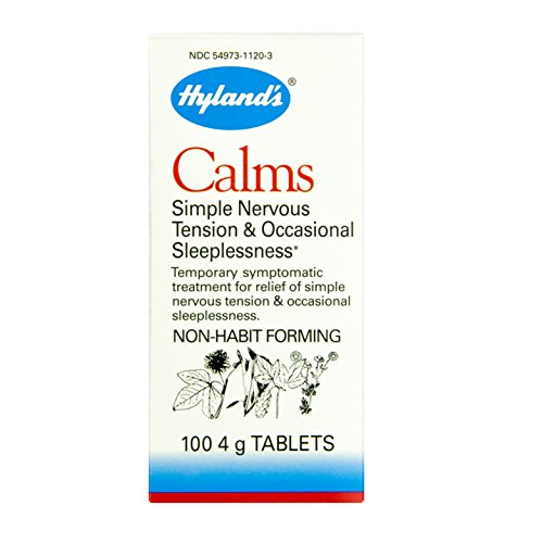 Hyland's Calms Nerve Tension Sleeplessness, 100-4 gr. Tablets