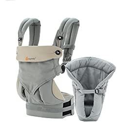 Ergobaby Four Position Bundle of Joy Baby Carrier, Grey