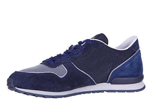 Tod's chaussures baskets sneakers homme en daim active sportivo ym blu