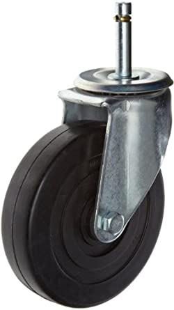 E.R. Wagner Americaster Stem Caster, Swivel, Dust Cover, Soft Rubber Wheel