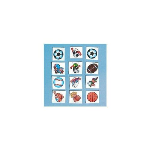 [Football Glitter Tattoos (216 Pieces) - Bulk] (Football Temporary Tattoos)