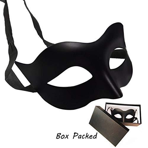 IDOXE Black Masquerade Masks Cool Men Fighter Masquerade Face Mask for Ball Party/Halloween
