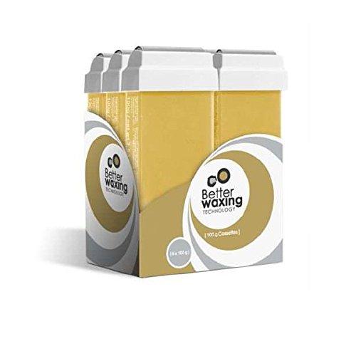 Honey Roll on Wax Cartridge 6 in a Box | Depilatory Cartridge | Professional | 6x100ml Beauty Hair Products Ltd 6xWX-HNY-100