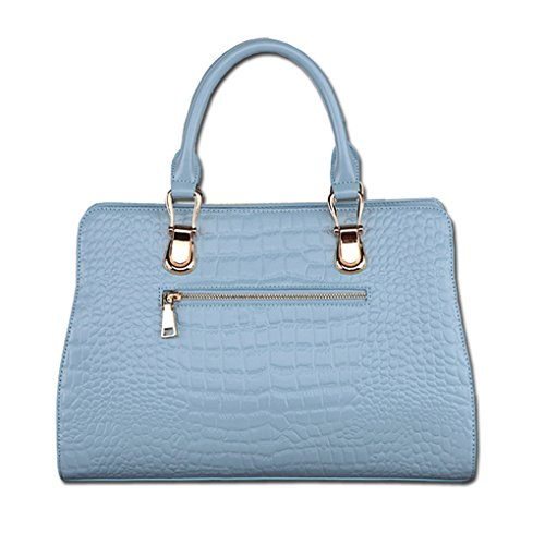 Kaxidy Bag Luce Coccodrillo Tote Blu Pelle In Borsa Con rCrgqTw