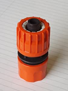 NEW CLICK LOCK PUSH FIT GARDEN HOSE PIPE END CONNECTOR