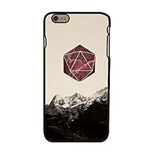 TOPQQ Mountain and Triangle Style Plastic Hard Back Cover for iPhone 6 Plus