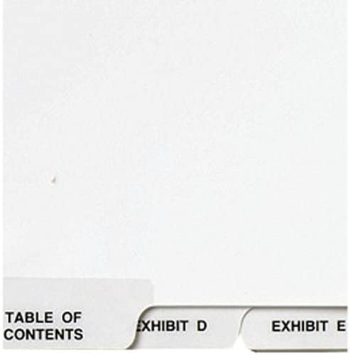 27-Tab Avery Avery-Style Lgl Bottom Tab Dividers Letter Size 27 per Set 8.5 x 11 White Exhibit A-Z 11376