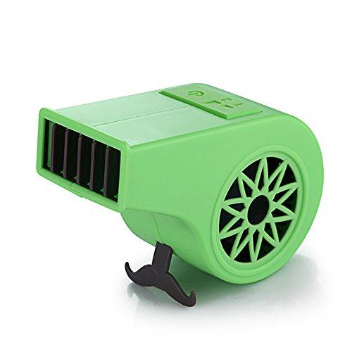 Zehui - Ventilador de aire acondicionado para deportes, viaje, portátil, manual, alimentado por USB, Verde