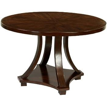 Furniture Of America Fluxeur Round Dining Table, Dark Walnut Finish