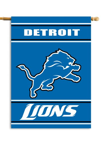 Fremont Die NFL Detroit Lions 2-Sided 28-by-40-Inch House -