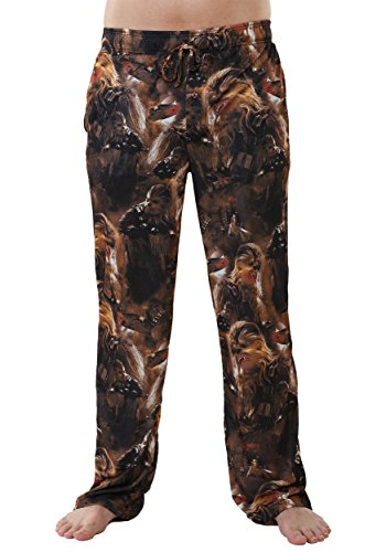 Mad Engine mens Star Wars Chewie Faces Mens Lounge Pants 2X