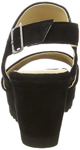Sioux Women's Fomaia Platform Sandals, Beige Black (Schwarz 000)