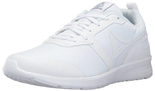 Reebok Women's Foster Flyer Track Shoe,white/pewter/matte silver,8 M US