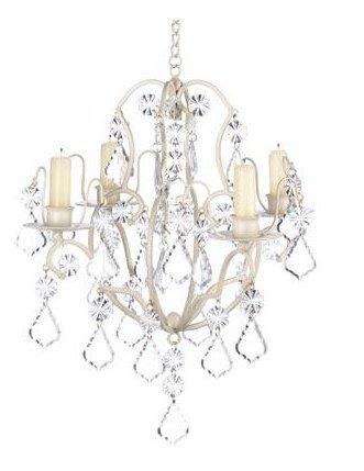 Ivory Baroque Chandelier Wonderful Luxury Refinement 11'' x 11'' x 15'' high HomyDelight