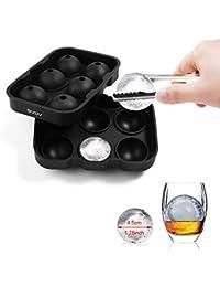 PickUp #1 Ice Ball Maker - GVDV Ice Ball Maker Mold - 6 Whiskey Ice Balls - Premium Black Flexible Silicone Round Spheres... offer