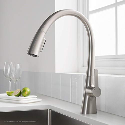 Kraus KPF-1673SFS Nolen Kitchen Faucet, Spot Free Stainless - Spring Flexible Action Gooseneck