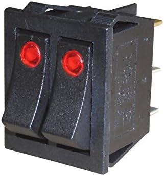 Wittkoware Dual Kontroll Wippenschalter 30x22mm 2 Polig Ein Aus 15a 250v Schwarz Baumarkt