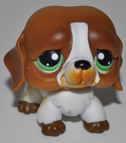 St. Bernard #335 - Littlest Pet Shop (Retired) Collector Toy - LPS Collectible Replacement Figure - Loose (OOP Out of Package & Print)