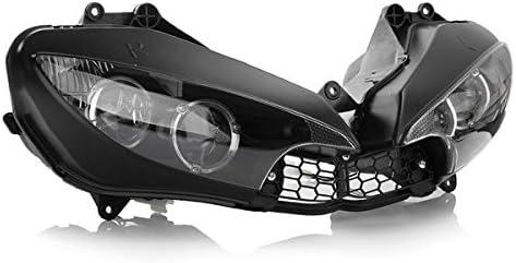 WCHAOEN Ensamblaje de faro delantero de faro claro para motocicleta para Yamaha YZF R6 2003-2005 Repuestos