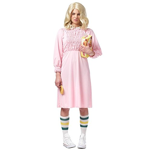 Strange Girl Women's Costume, Pink: X-Small (Hit Girl Costumes)