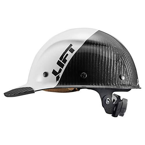 Lift Safety DAX Carbon Fiber Cap Brim 50-50 (White/Black) ()
