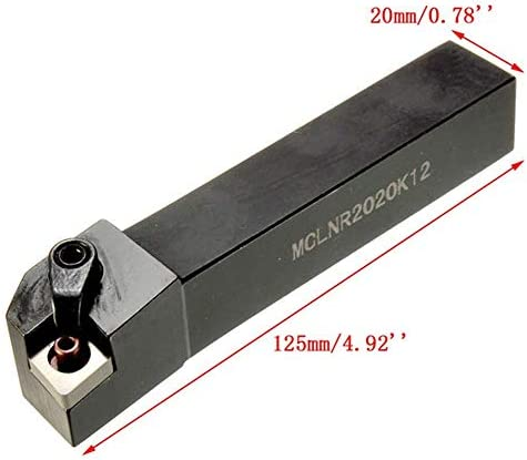 MCLNR2020K12 20x125mm Lathe Boring Bar Indexable Turning Tool Holder Without Wrench Tool