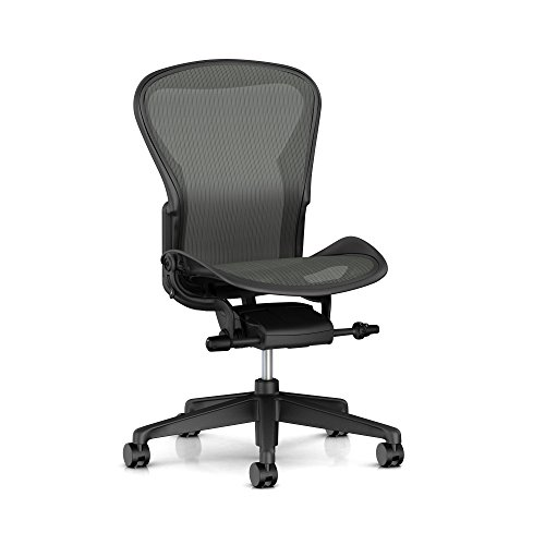 Herman Miller Aeron Task Chair: Tilt Limiter/Seat Angle – Zonal Back Support – Armless – Braking Caster
