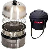 Cobb PREMIER Portable Grill, Stainless Steel, Dishwasher Safe BBQ Grill, Includes Bag & Roast Rack