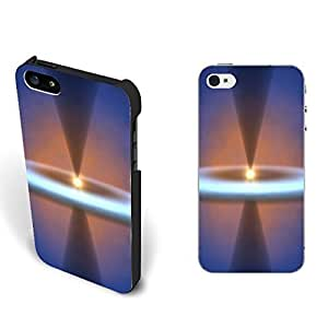 New Galaxy Space Universe Nebula Series Pattern Designed Iphone 5 5s Case Cover Customized Hard Plastic Cell Phone Protector (bright sun halo)
