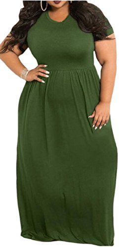 Long Dress 5 Party Maxi Swing Sleeve Womens Jaycargogo Plus Size Short qfw6Sz0S