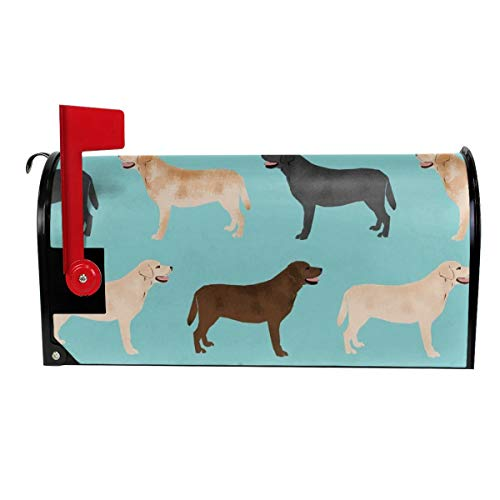 Cute Labradors Yellow Chocolate Black Lab Pet Dogs Garden Mailbox Cover Magnetic
